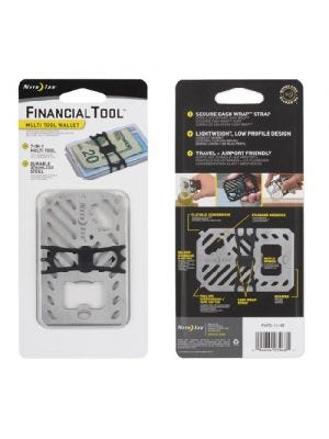 Nite Ize Financial Tool Multi-Tool Wallet Stainless