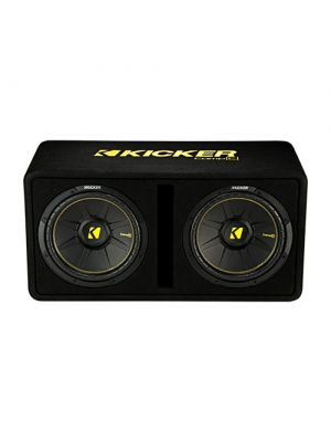 Kicker 44DCWC122 Loaded Subwoofer Enclosure - Front