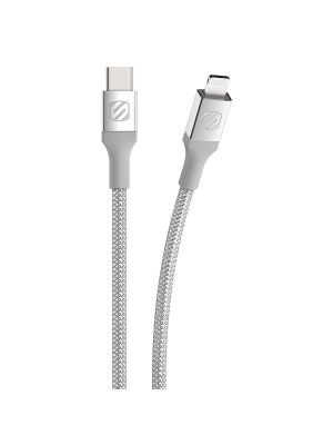 Scoshe Ci4B4SR-SP Strikeline MFI Certified Sync and Charging Cable, 4 Feet, Silver