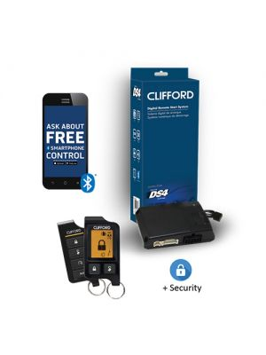 Clifford DERSS9756 2-Way LCD Remote Start and Security System with 1 Mile Range