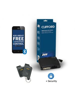 Clifford DERSS9816 2-Way 1-Button Remote Start and Security System