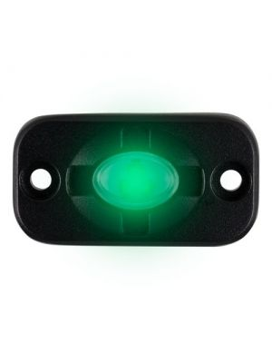 Heise HE-TL1G 1.5 Inch x 3 Inch Auxiliary Lighting Pod Green