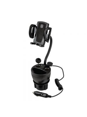 Scosche UH2PCUP PowerHub Cup-Holder Phone Mount and Charging Hub