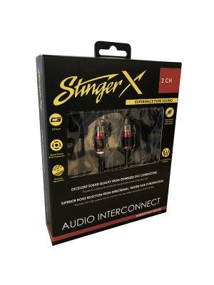 Stinger XI226 X2 Series 2 Channel 6 Foot RCA Audio Interconnect