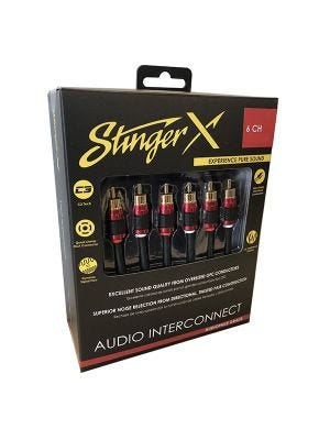 Stinger XI2617 X2 Series 6 Channel 17 Foot RCA Audio Interconnect