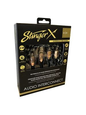 Stinger XI3417 X3 Series 4 Channel 17 Foot RCA Audio Interconnect