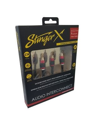 Stinger XI22YM X2 Series 2 Male to 1 Female Y RCA Audio Interconnect
