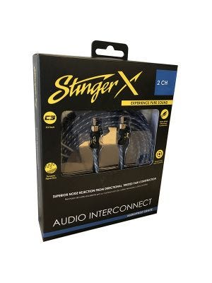 Stinger XI1220 X1 Series 2 Channel 20 Foot RCA Audio Interconnect
