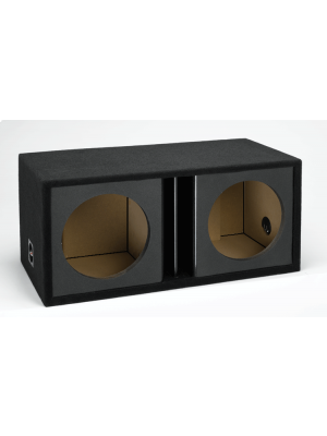 Atrend ZV12D-BLACK - 12 Dual Vented Subwoofer Enclosure Kandy Black