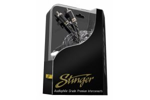 Stinger SI921.5 9000 Series 2 Channel RCA Interconnect 1.5 Feet