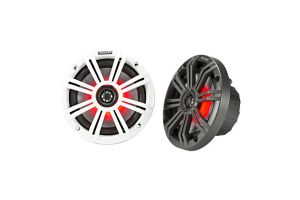 Kicker 45KM654L KM 6.5 Inch Coaxial Marine Speakers with LED Lighting