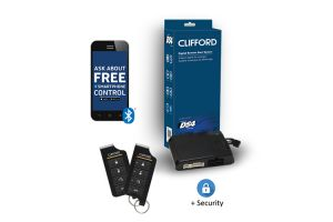 Clifford DERSS9857 2-Way LED Remote Start and Security System with 1 Mile Range