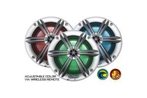 Stinger SEA65RGBS 6.5 Inch Coaxial Marine Speakers with Built-in RGB Lighting