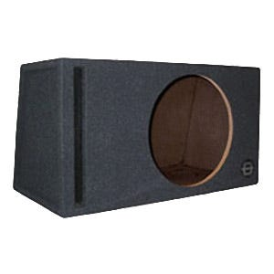 Car Toys coupon: Bassworx SWP12B Street Wedge Series Single 12 Inch Slot-Port Subwoofer Enclosure for Cars, Trucks & Motor Vehicles