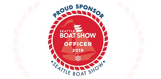 marine boat show official badge