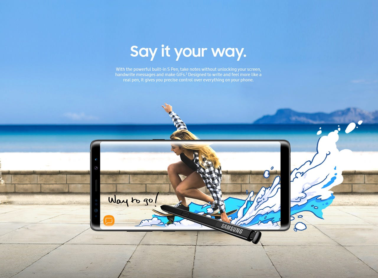 Galaxy Note8 say it your way