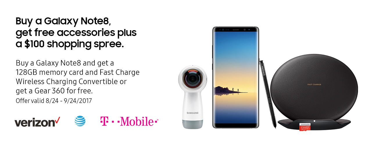 Galaxy Note8 buy now memory card charging convertible