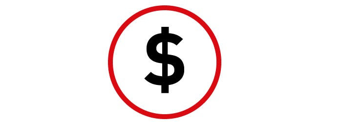 dollar sign payment icon