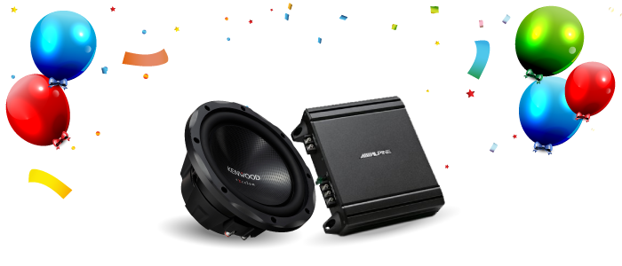 Speakers, Subwoofers and Amplifiers BirthdayBash Sale