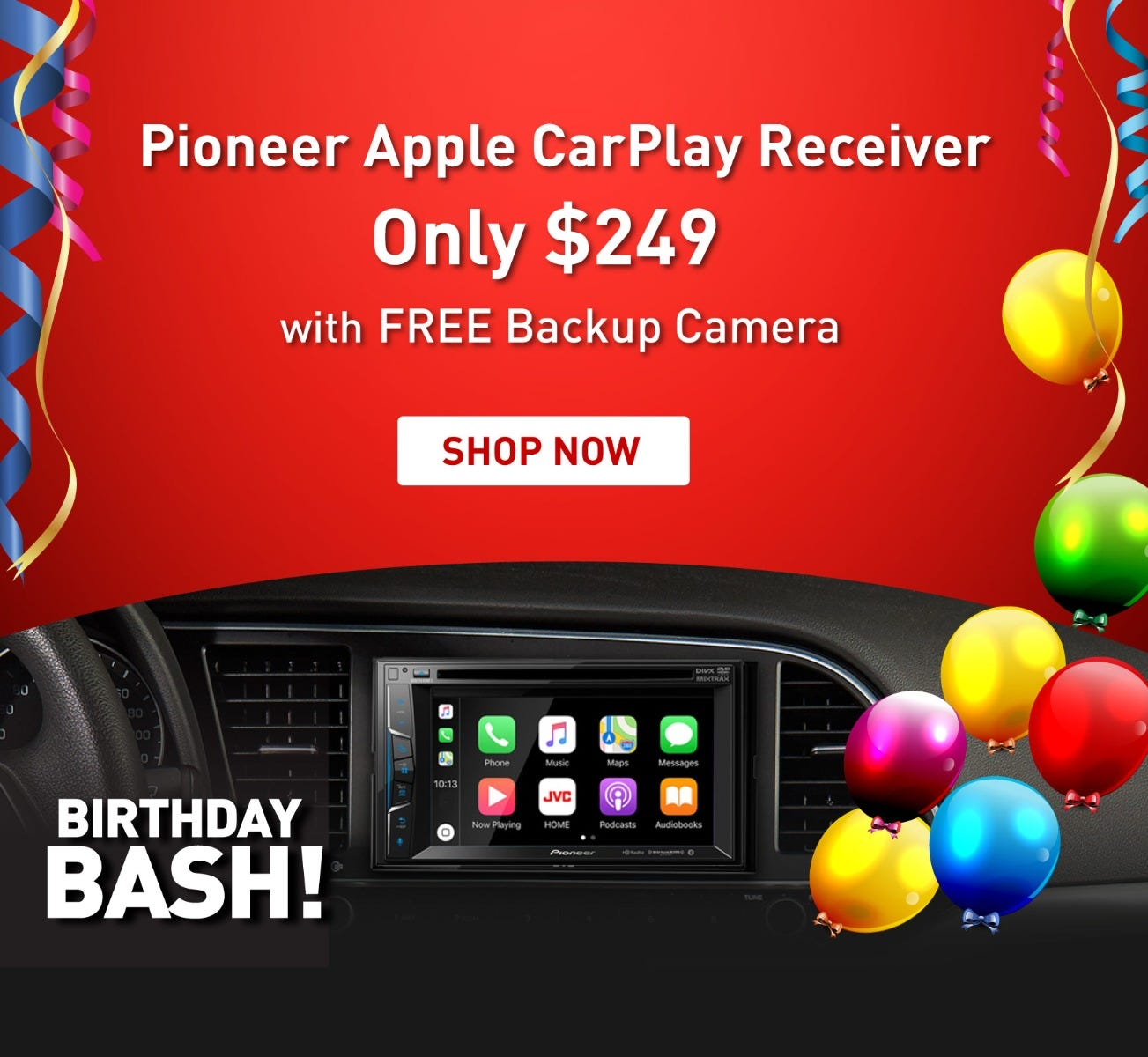 Birthday Bash sale PIONEER CarPlay