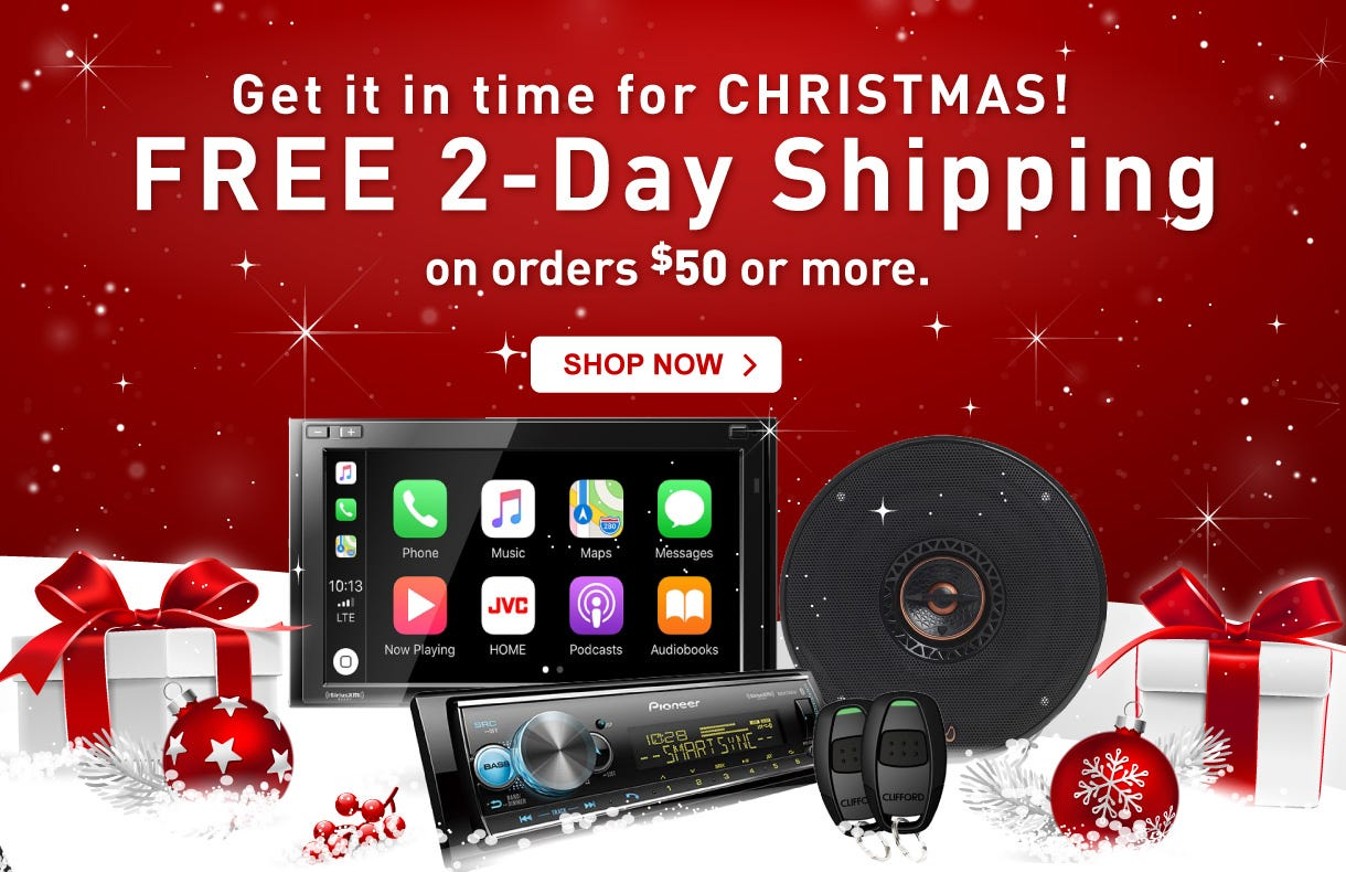 Car Audio 2Day shipping Holiday Sale