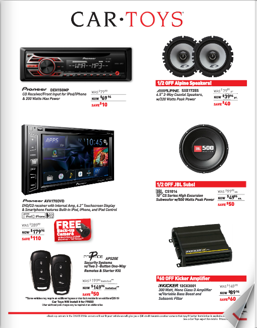 Car Audio Flyer Preview