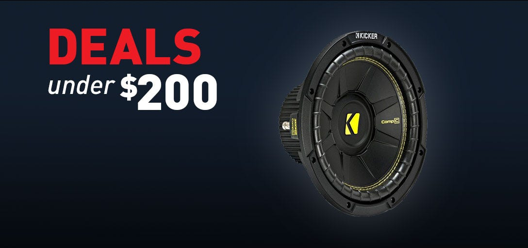 Subwoofers Speakers products under 200