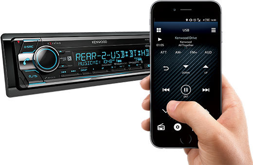 Kenwood eXcelon KDC-X702 CD Receiver with Bluetooth and HD Radio