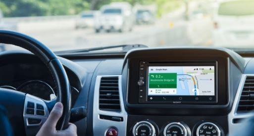 Navigating with Android Auto