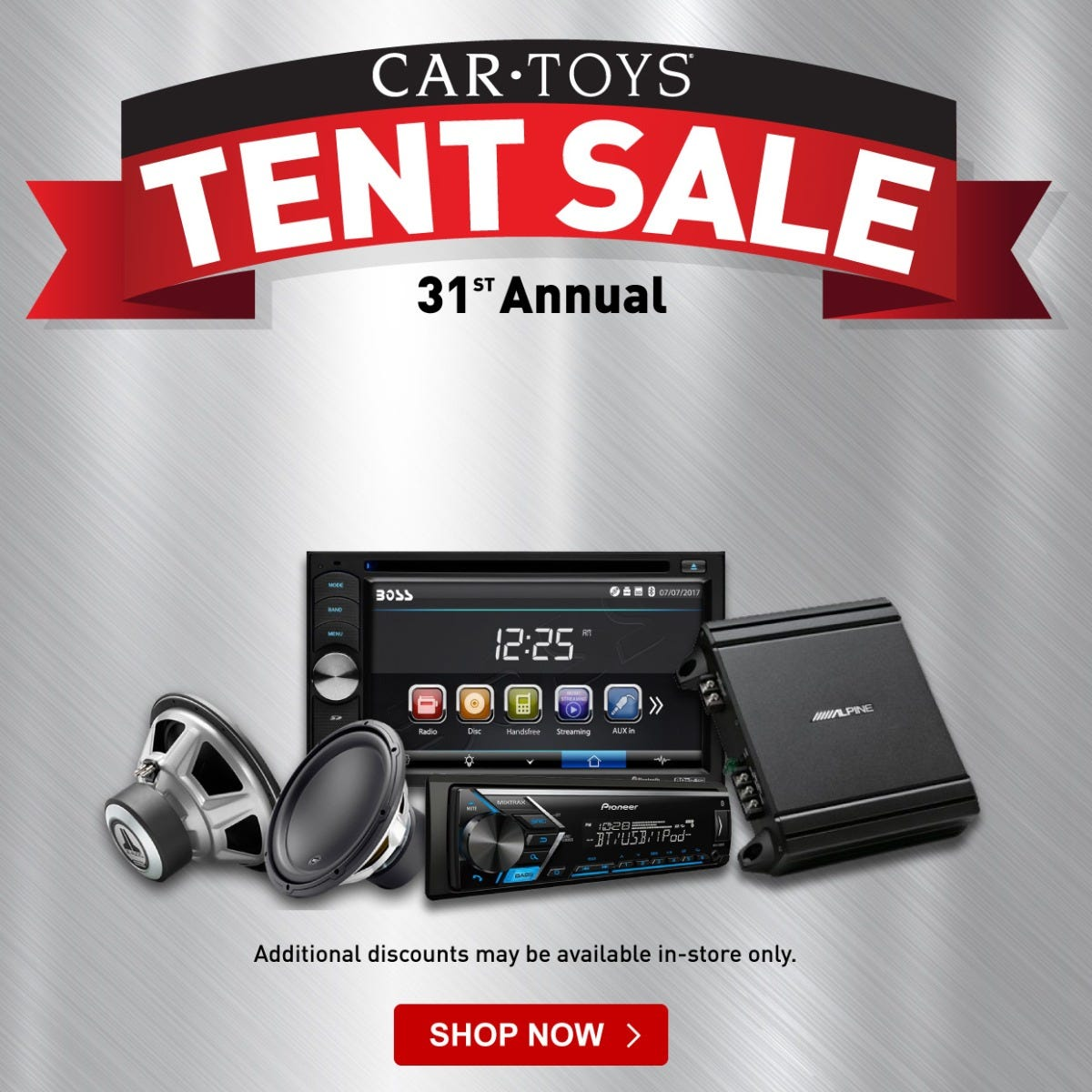 Car Stereo Tent Sale